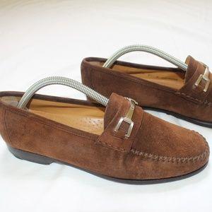 Mezlan Brown Suede Horsebit Loafer. Men 8.5